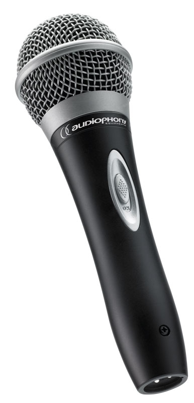 Dynamic microphone with power switch