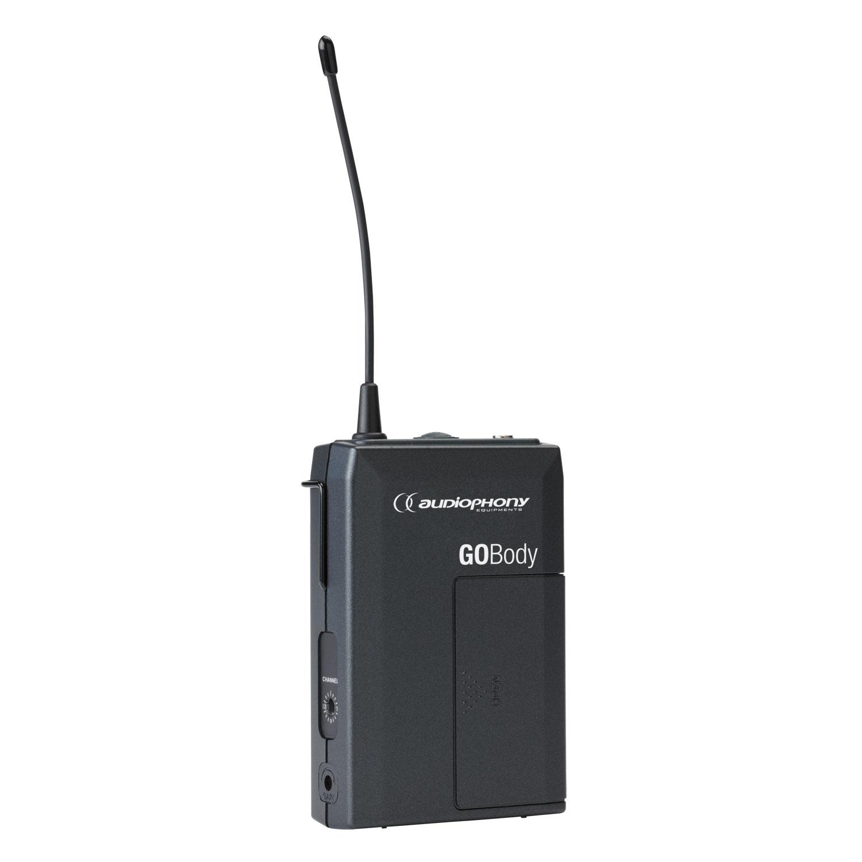Bodypack transmitter for tie-clip or headband microphones - 800MHz range