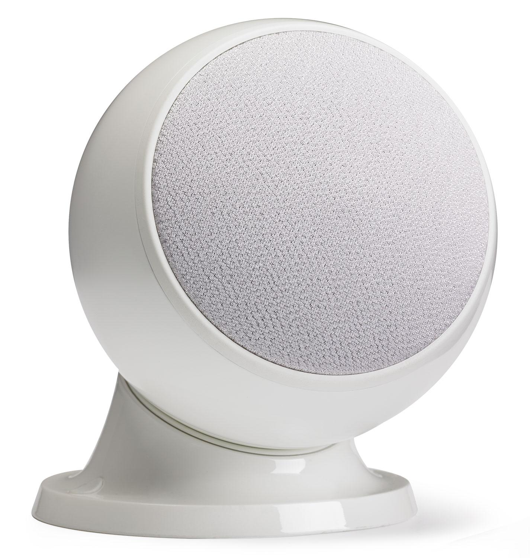 50W RMS Spherical satellite speaker - White