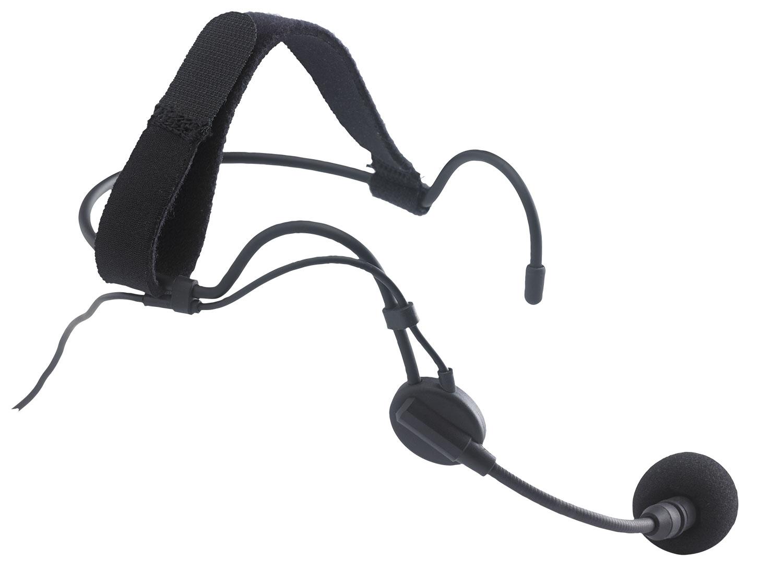 Sweat-proof headband electret microphone - mini XLR