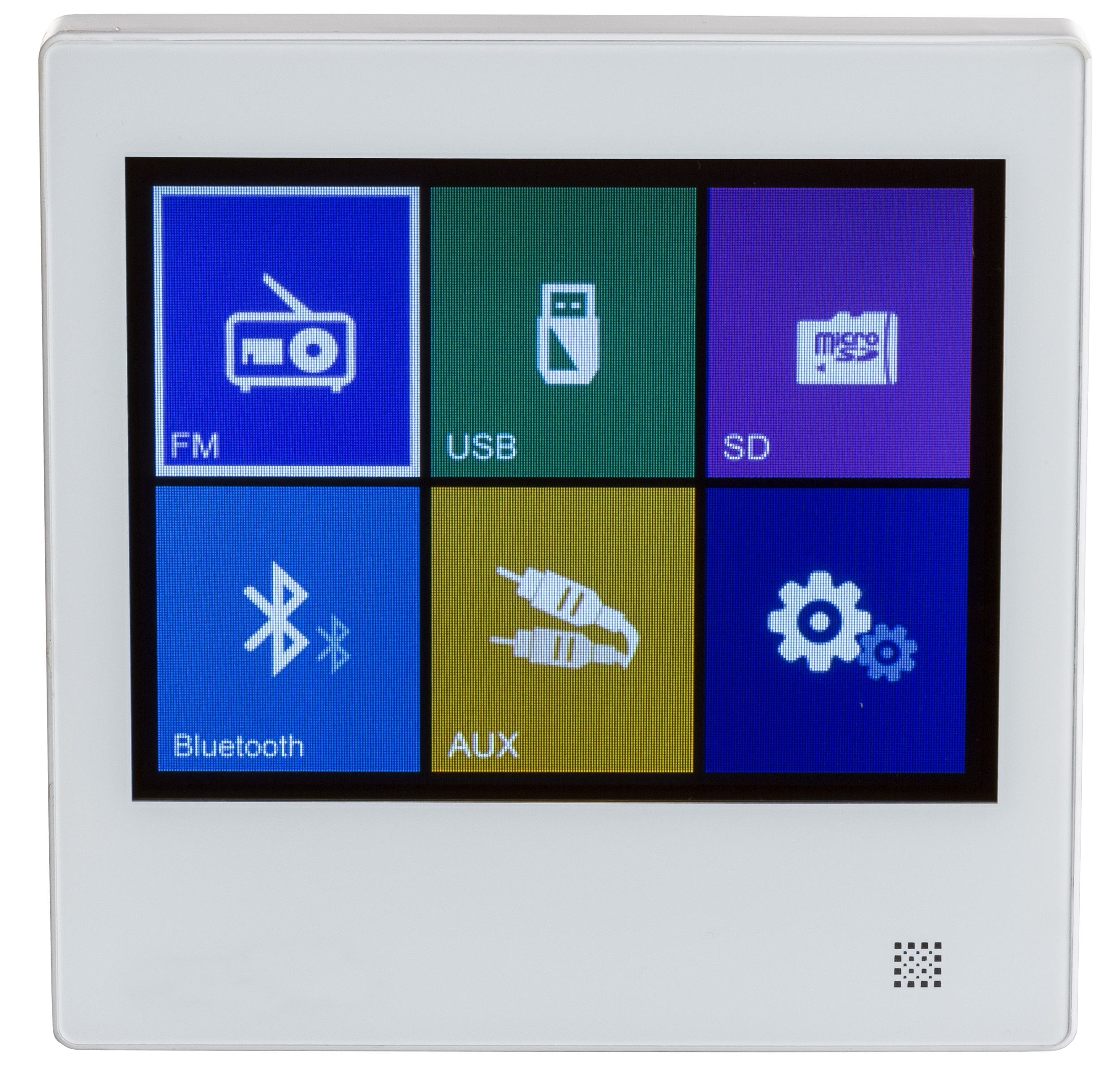 2x10W wall amplifier with SD, USB, BLUETOOTH, Radio, AUX  touch screen